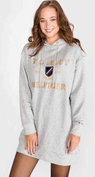Športové teplákové dámske šaty Tommy Hilfiger Kristal