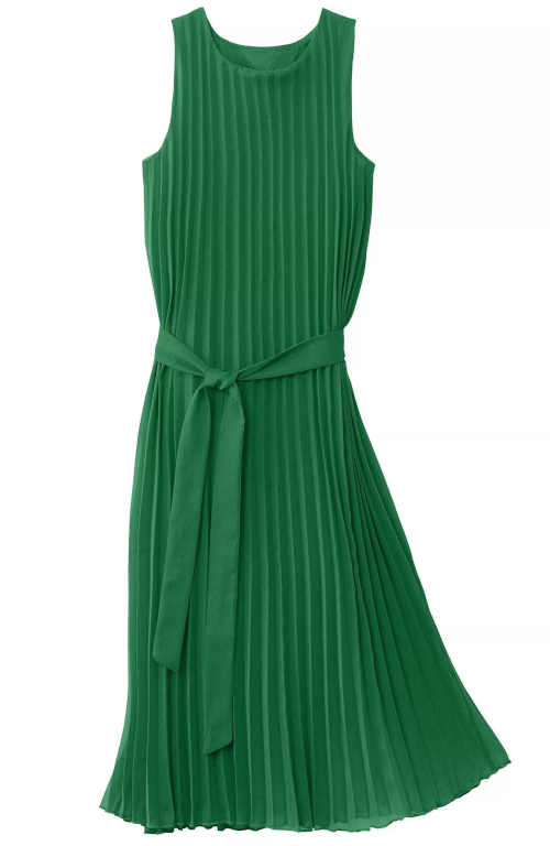 Zelené plisované dámske šaty