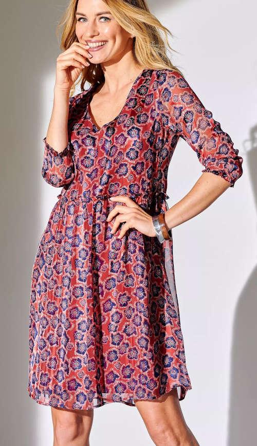 Moderné dámske šaty voľného strihu