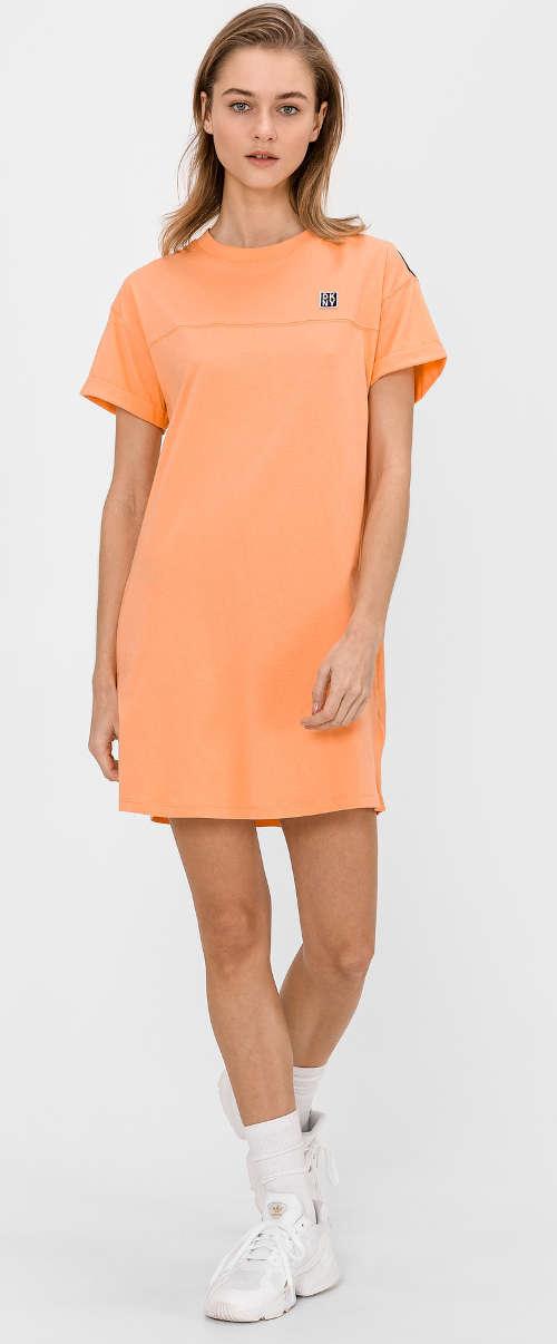 Oranžové pohodlné šaty dkny