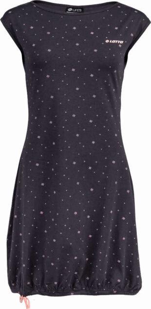 Letné šaty z príjemného materiálu s celoplošnou potlačou