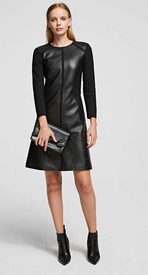 Luxusné kožené dámske šaty pre výnimočnú udalosť