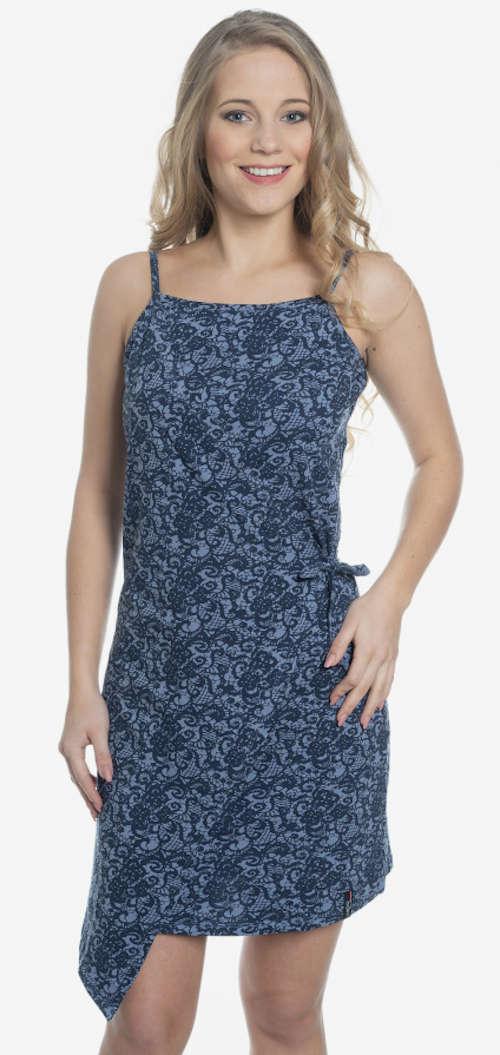Moderné letné šaty na ramienka v asymetrickom strihu