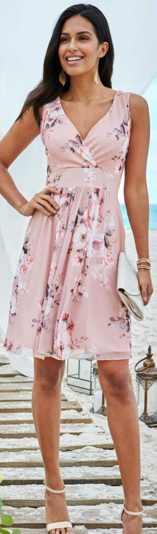 Ružové letné šaty pre družičku