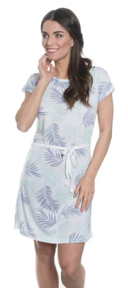 Štýlové letné šaty s krátkym rukávom v dĺžke nad kolená