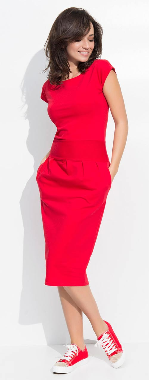 Červené športové šaty