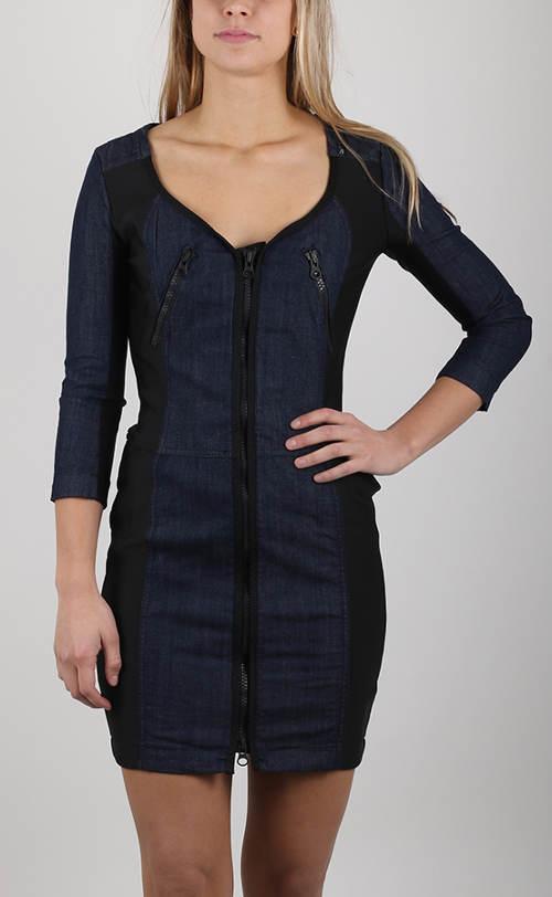 Dámske džínsové puzdrové šaty Replay