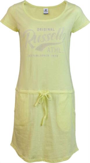 Dámske letné žlté šaty Russell športovo-ležérneho strihu
