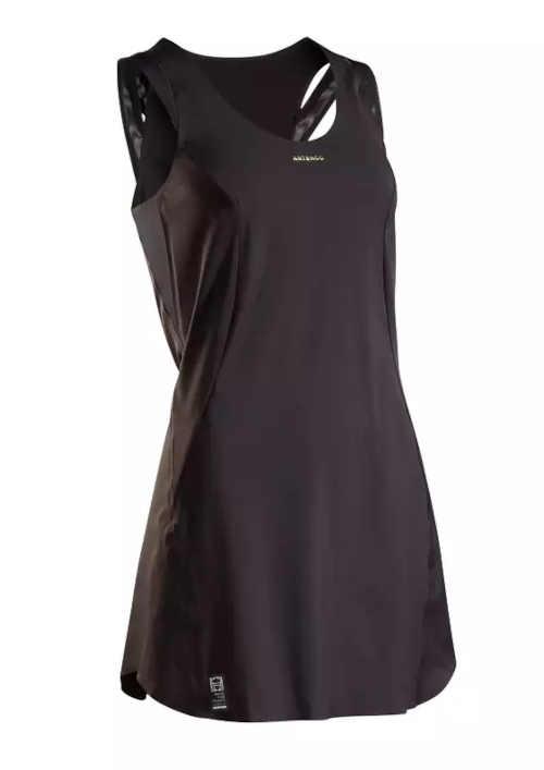 Dámske športové šaty na tenis v čiernom prevedení