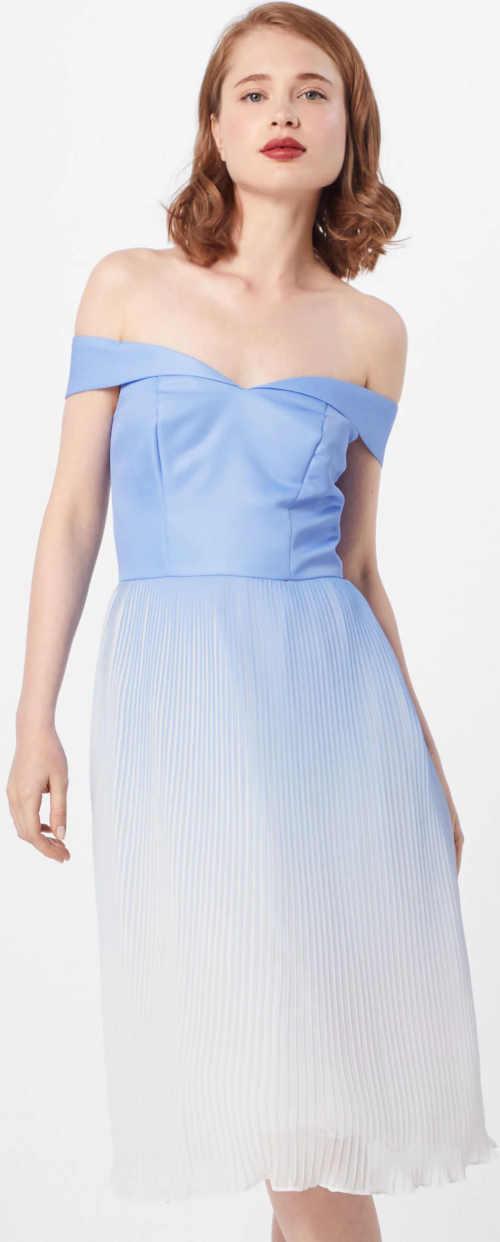 Koktejlové šaty s plisovanou sukňou