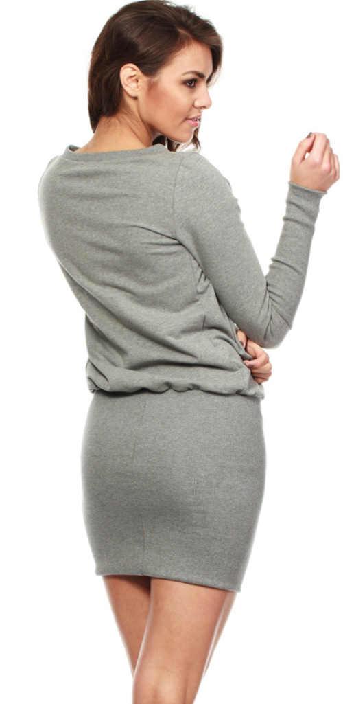 Moderné dámske šaty v mini dĺžke