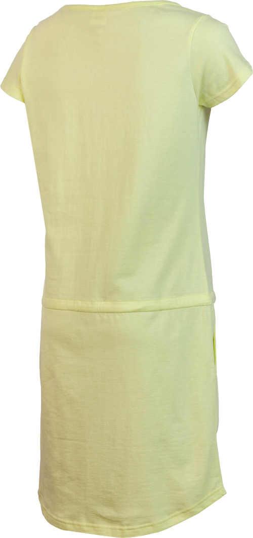 Moderné pohodlné žlté šaty na leto