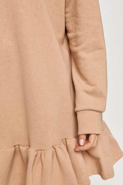 Šaty oversize s kapucňou a dlhým rukávom