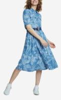 Štýlové dámske šaty košeľového strihu s opaskom od Desigual