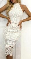 Upnuté krajkové midi šaty