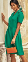 Vzdušné zelené košeľové šaty pre letné obdobie