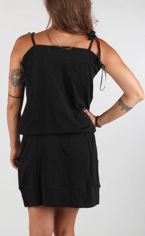 Čierne športové letné šaty