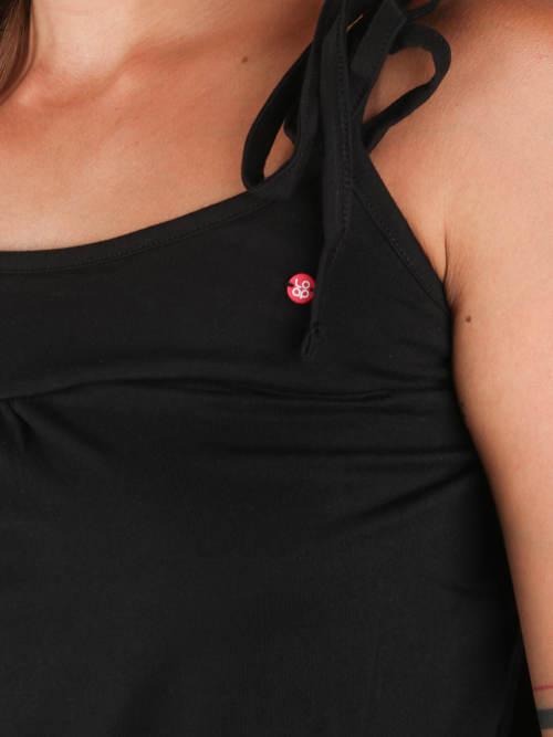 Dámske šaty so zaväzovacími ramienkami