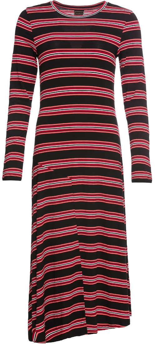 Dlhé pruhované žerzejové šaty