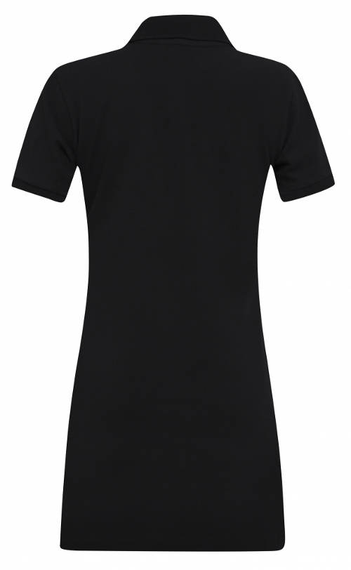 Čierne športové šaty s krátkym rukávom