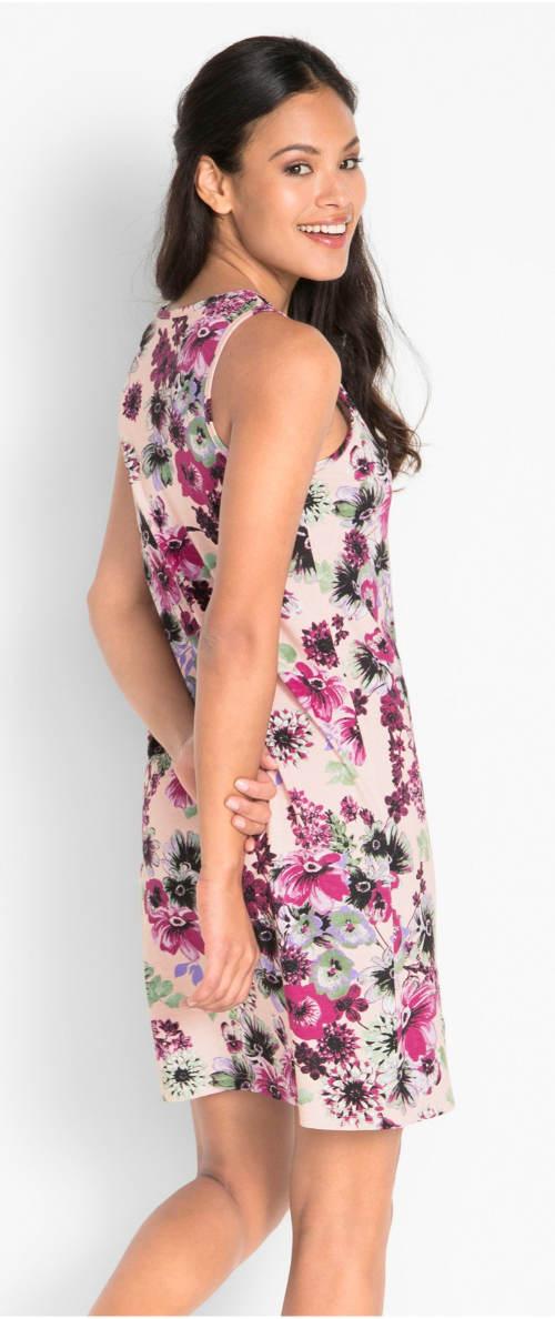 Fialkové letné kvetinové šaty