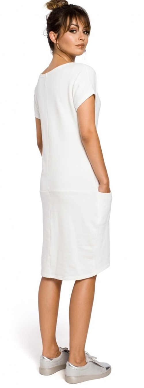 Moderné jednofarebné šaty s krátkym rukávom