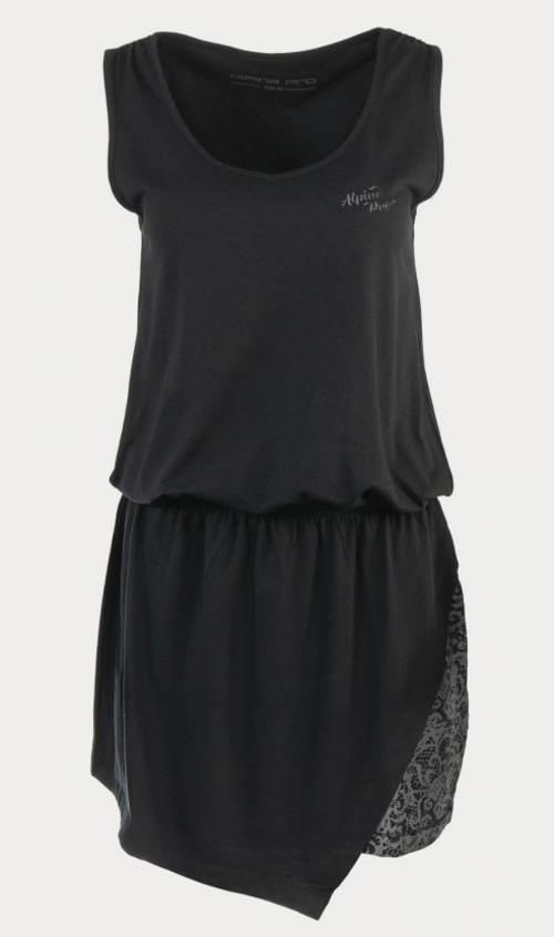 Čierne dámske šaty Alpine Pro Lastia