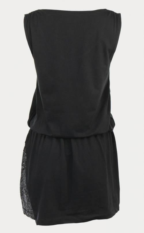 Čierne šaty s pásom do gumy