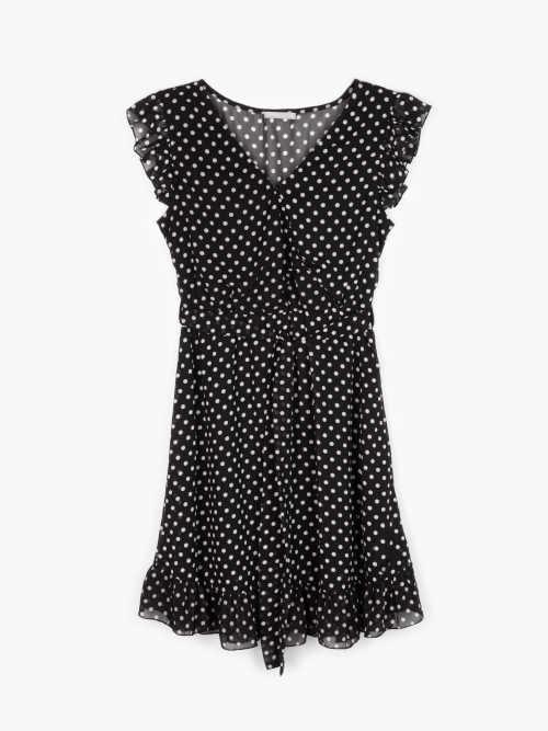 Krátke letné bodkované šaty