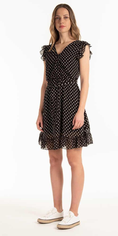 Puntíkaté šifónové letní šaty
