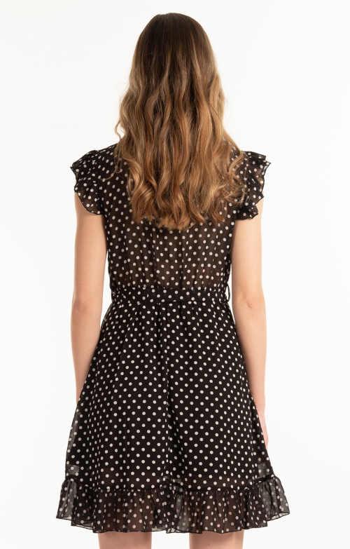 Šifónové letné šaty s volánom