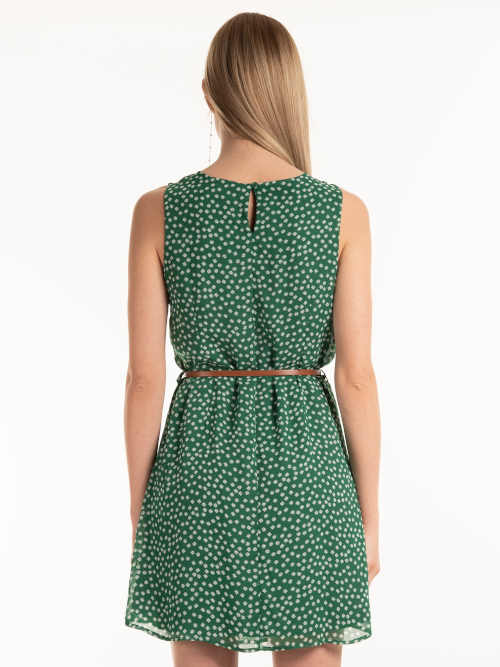 Zelené šaty bez rukávov