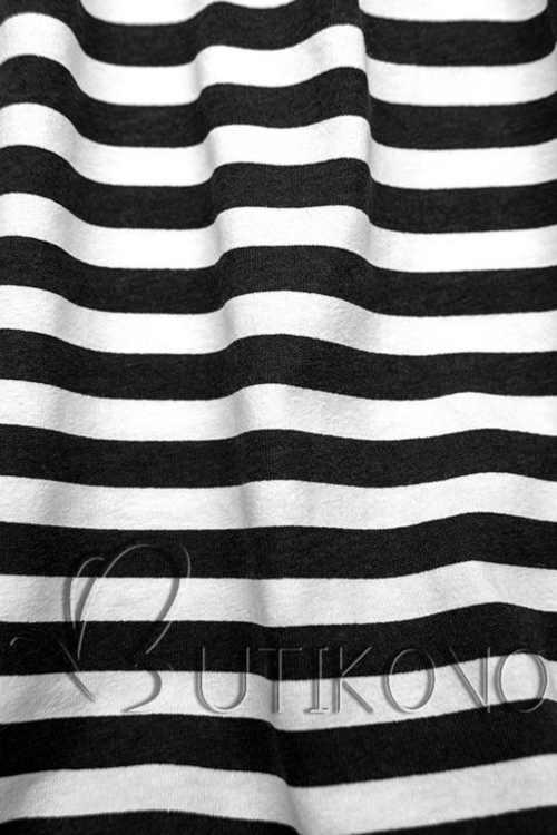 Bavlnené čiernobiele šaty