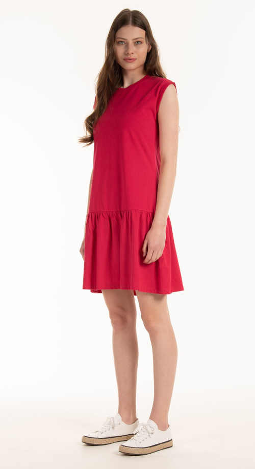 Bavlnené šaty nad kolená