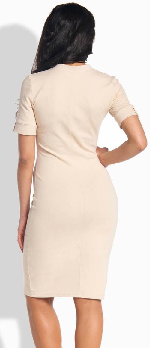Béžové dámske šaty Lemoniade L191