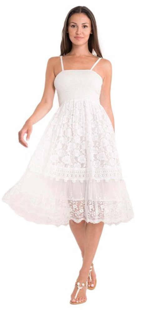 Biele moderné letné šaty