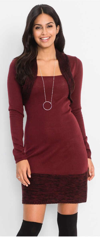 Bodycon šaty vo vínovej farbe