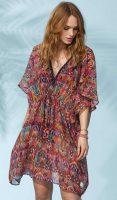 Dámske plážové šaty vo farebnom prevedení