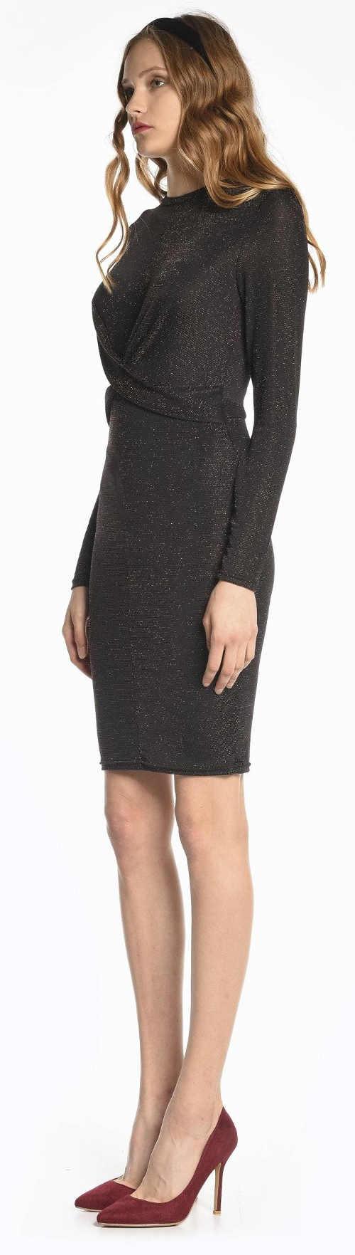 Lacné elegantné dámske šaty čierne