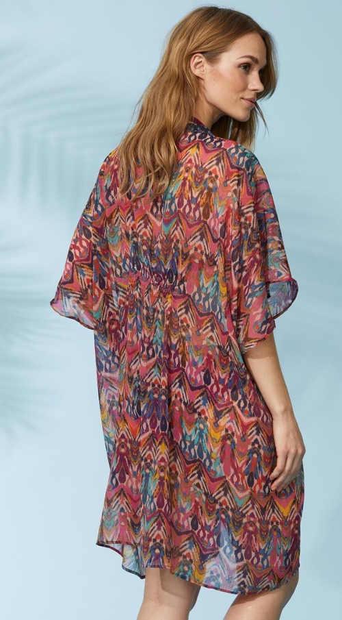 Viacfarebné dámske plážové šaty