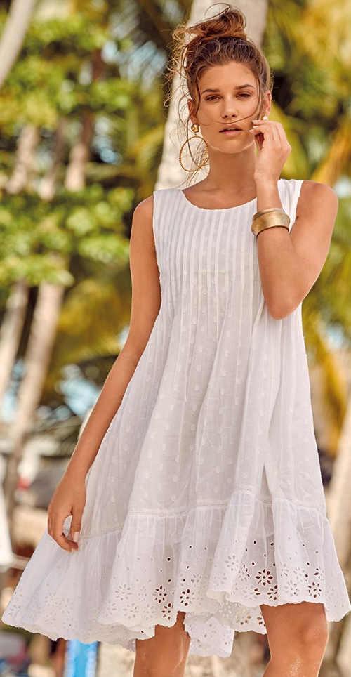 Biele vzdušné plážové šaty Astratex Bali