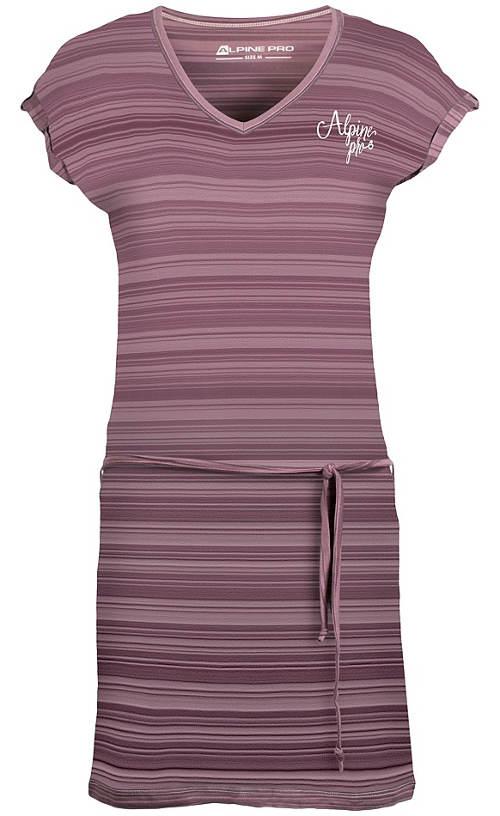 Fialové pruhované šaty Alpine Pro