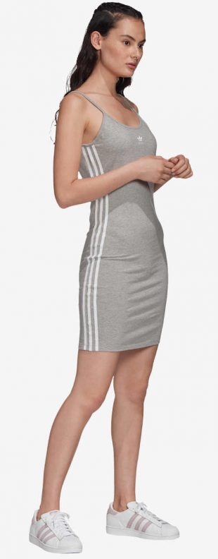 Letné šaty Adidas v sivej farbe s dĺžkou nad kolená