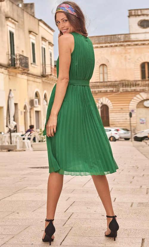 Moderné dámske plisované šaty