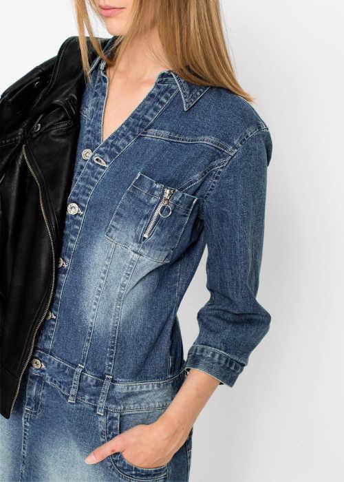 Modré džínsové šaty Bonprix