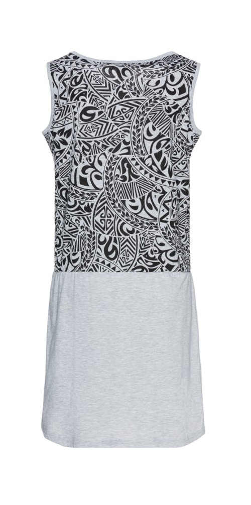Pohodlné letné šaty bez rukávov s potlačou